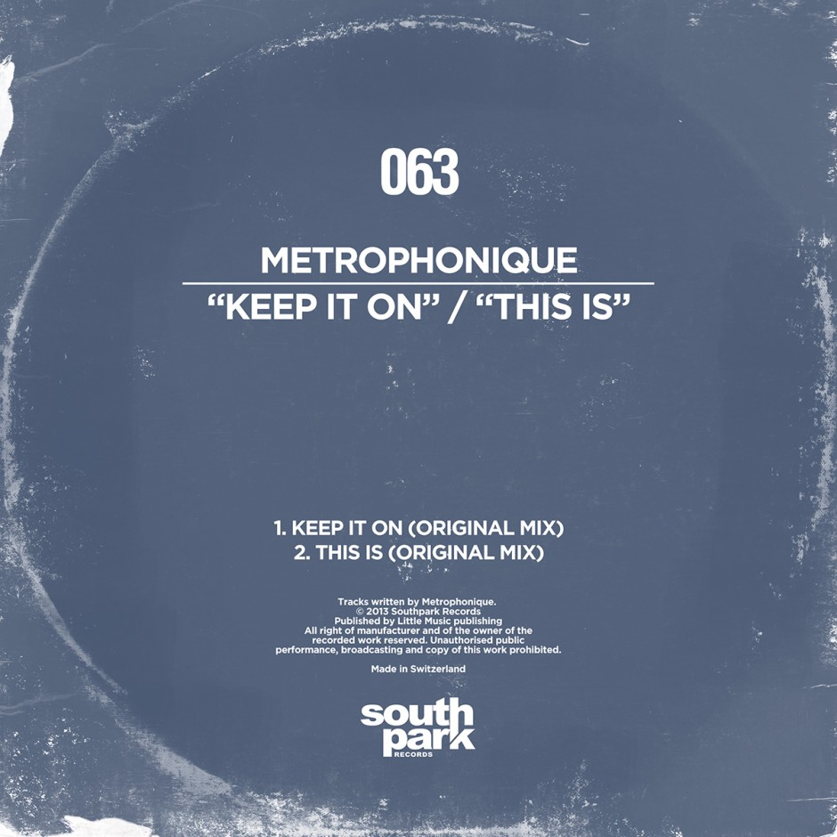 Southpark Records 063 - Cover